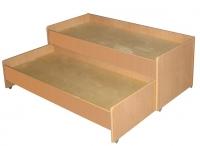 Кровать двухъярусная выкатная, ЛДСП, 1403*658*550 мм._1