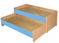 Кровать двухъярусная выкатная, ЛДСП, 1403*658*550 мм._2