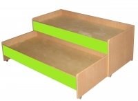 Кровать двухъярусная выкатная, ЛДСП, 1403*658*550 мм._3