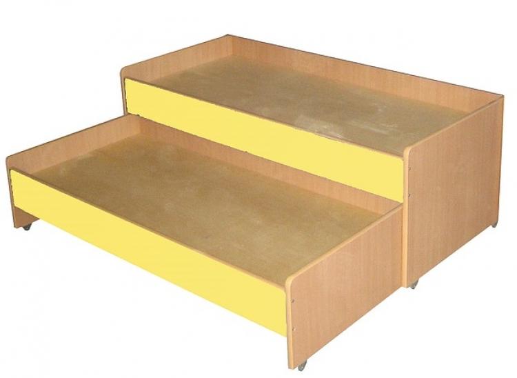 Кровать двухъярусная выкатная, ЛДСП, 1403*658*550 мм.