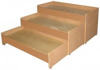 Кровать 3-х ярусная выкатная, ЛДСП, 1459*660*810 мм_3