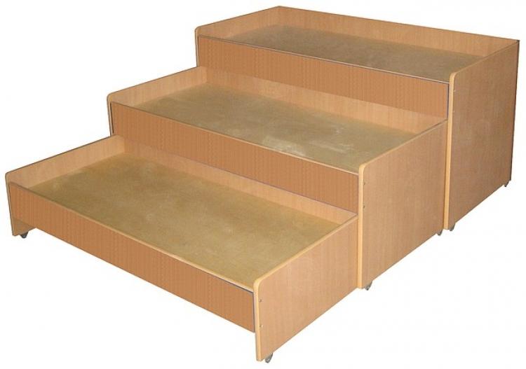Кровать 3-х ярусная выкатная, ЛДСП, 1459*660*810 мм