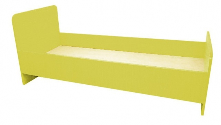 Кровать 1-но ярусная, ЛДСП, 1432/1232*600*636 мм