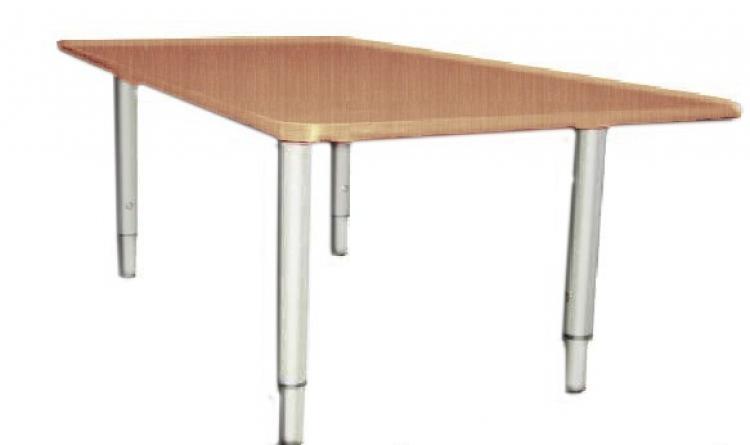 Стол квадратный регулируемый, ЛДСП, 700*700*400-580 мм