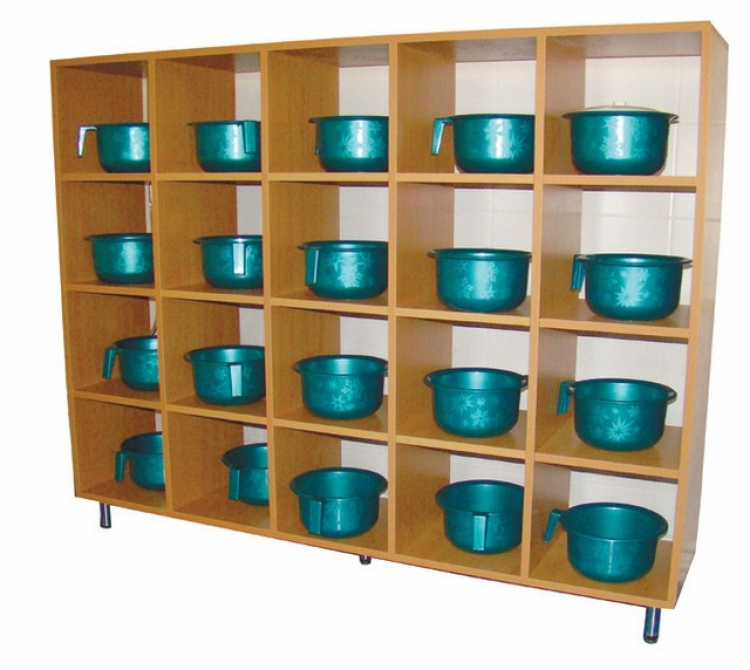 Шкаф для горшков (на 20 мест), ЛДСП,  1012*300*1456 мм