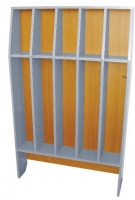Шкаф для полотенец напольный 5-и местный, ЛДСП, 816*160*1156 мм_0