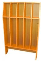 Шкаф для полотенец напольный 5-и местный, ЛДСП, 816*160*1156 мм_1