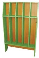 Шкаф для полотенец напольный 5-и местный, ЛДСП, 816*160*1156 мм_2