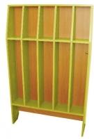 Шкаф для полотенец напольный 5-и местный, ЛДСП, 816*160*1156 мм_3