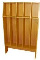 Шкаф для полотенец напольный 5-и местный, ЛДСП, 816*160*1156 мм_4