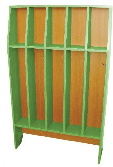 Шкаф для полотенец напольный 5-и местный, ЛДСП, 816*160*1156 мм