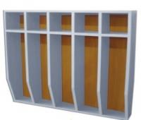 Шкаф для полотенец навесной 5-и местный, ЛДСП, 816*160*800 мм_1