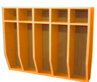 Шкаф для полотенец навесной 5-и местный, ЛДСП, 816*160*800 мм_2