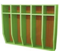 Шкаф для полотенец навесной 5-и местный, ЛДСП, 816*160*800 мм_3