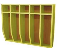 Шкаф для полотенец навесной 5-и местный, ЛДСП, 816*160*800 мм_4
