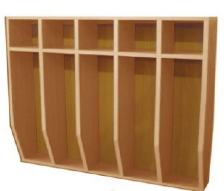 Шкаф для полотенец навесной 5-и местный, ЛДСП, 816*160*800 мм