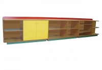Стеллаж «Игрушка», ЛДСП, 3420*420*600 мм