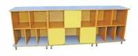 Стенка-стеллаж «Тройка», три раздельные секции, ЛДСП, 2651*800*500 мм