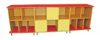 Стенка-стеллаж «Тройка», три раздельные секции, ЛДСП, 2651*800*500 мм_1