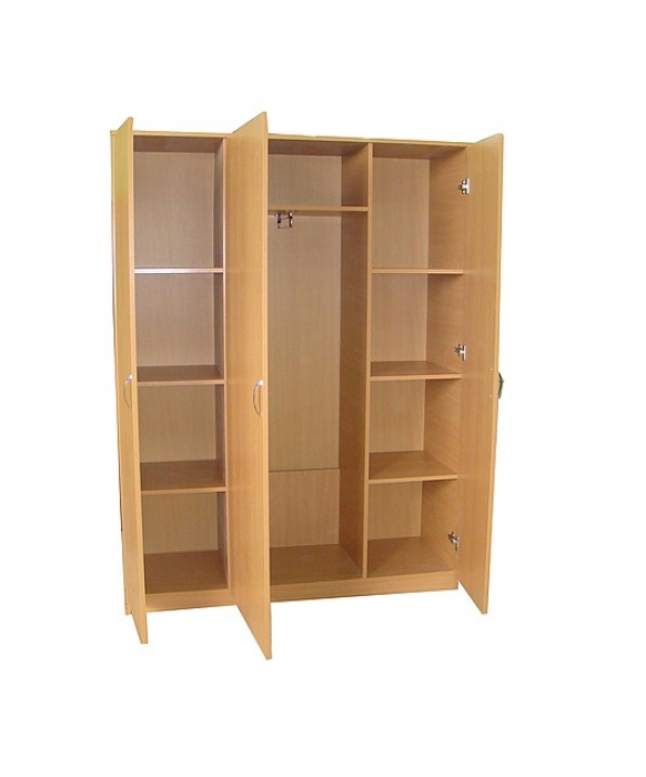 Шкаф для одежды трехдверный, ЛДСП, 1366*450*1830 мм