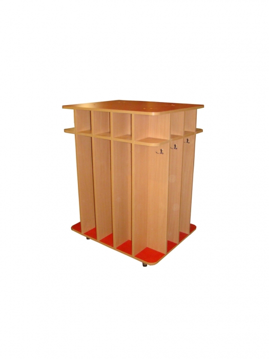 Шкаф для полотенец напольный 14 ячеек, ЛДСП, 794*632*1050 мм