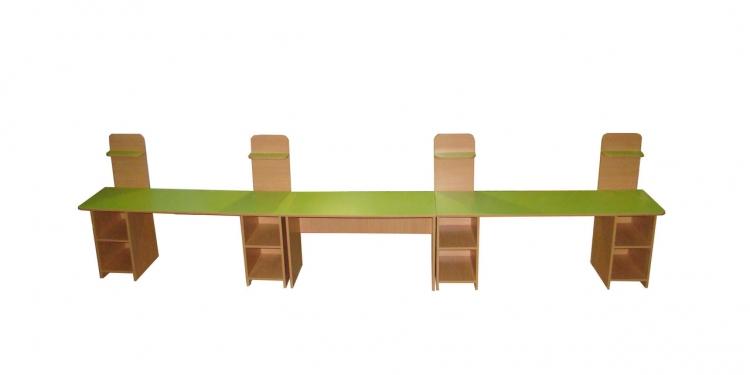 Стол-стеллаж ленточный, ЛДСП, 4000*450*1500 мм