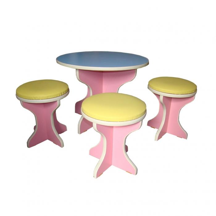 """Набор детской мебели """"Пикник в саду"""", стол d-600 мм, стул d-300*336 мм"""