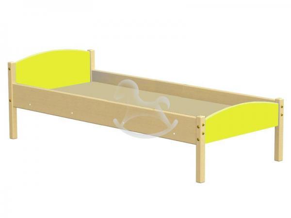 Кровать одноярусная комбинированная, ЛДСП, массив,1430/1230*630*600 мм_1