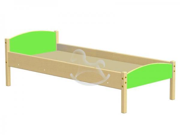 Кровать одноярусная комбинированная, ЛДСП, массив,1430/1230*630*600 мм_2