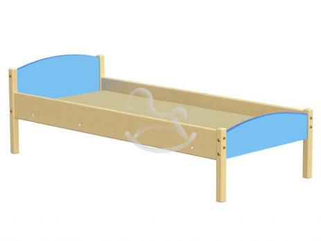 Кровать одноярусная комбинированная, ЛДСП, массив,1430/1230*630*600 мм