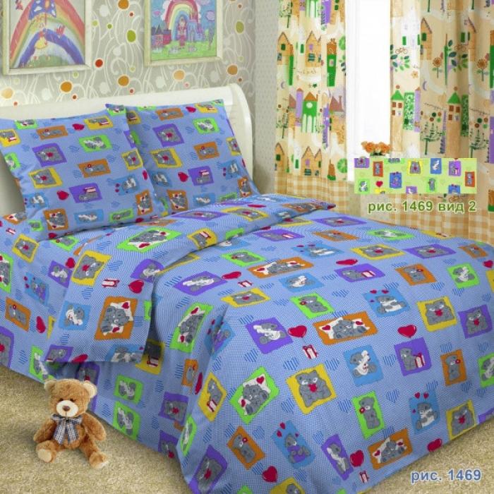 Детское постельное белье, комплект, бязь  (пододеяльник -112*150, простынь – 112*150, наволочка – 40/60*60)
