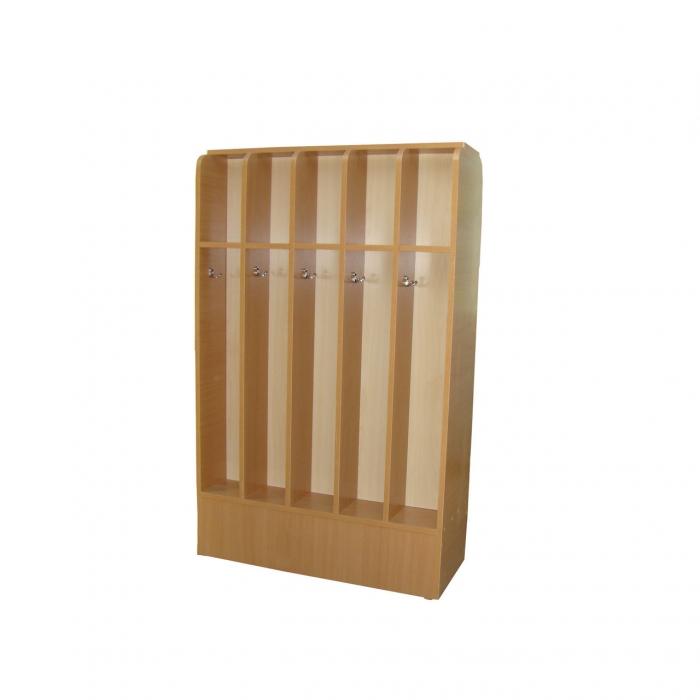 Шкаф для полотенец двухсторонний, 10 секций, ЛДСП, 816*328*1106 мм