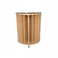Шкаф для полотенец полукруглый 10 секций, ЛДСП, 630*320*850 мм