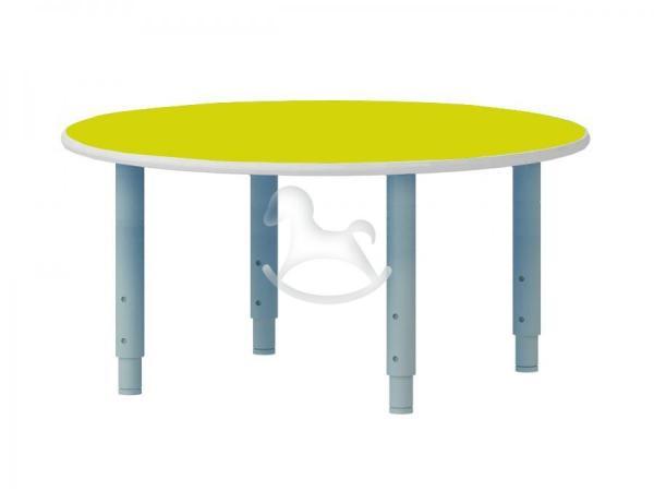 Стол круглый, регулируемый по высоте, ЛДСП, 900*900*400-580 мм_1