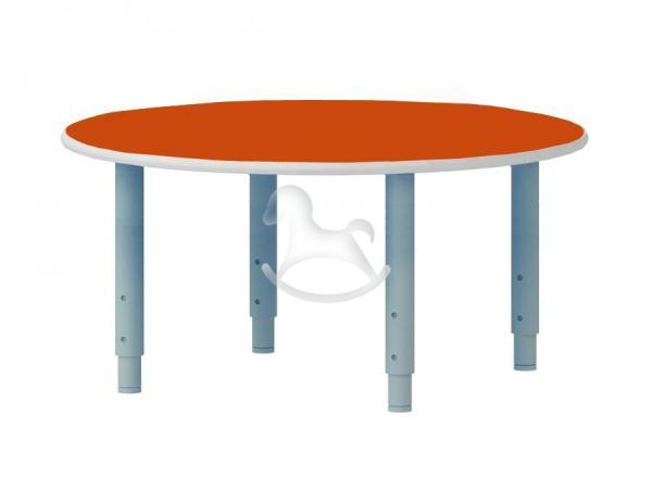 Стол круглый, регулируемый по высоте, ЛДСП, 900*900*400-580 мм_3