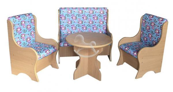 """Уголок отдыха """"Ягодка"""" (2 кресла, диван, стол), ЛДСП, поролон, ткань._1"""