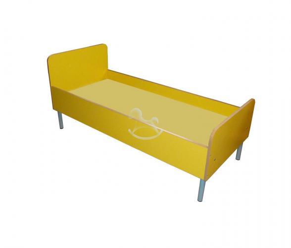 Кровать детская на металлокаркасе, ЛДСП, металл,1432*630*650 мм_1