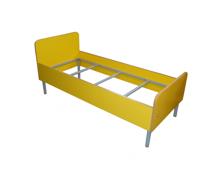 Кровать детская на металлокаркасе, ЛДСП, металл,1432*630*650 мм