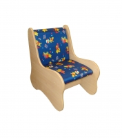 Кресло полумягкое, ЛДСП, поролон, ткань (432*610*610)