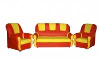 """Уголок отдыха """"Гном"""" (2 кресла, диван), кожзам"""