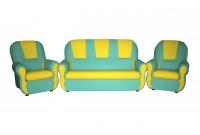 """Уголок отдыха """"Гном"""" (2 кресла, диван), кожзам_1"""