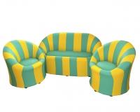 "Уголок отдыха ""Ромашка"" (2 кресла, диван), кожзам"