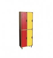Шкаф двухъярусный 4-х секционный, ЛДСП, 576*280*1700 мм