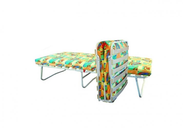 Кровать раскладная на ломелях с матрасом 1400*700 мм