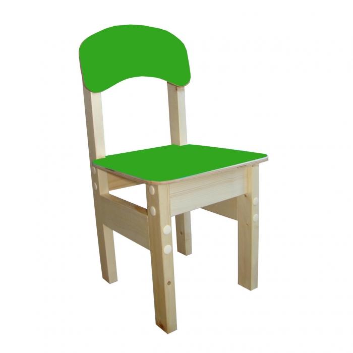 """Стул детский из массива """"Гномик"""" цветной - цвет зеленый"""