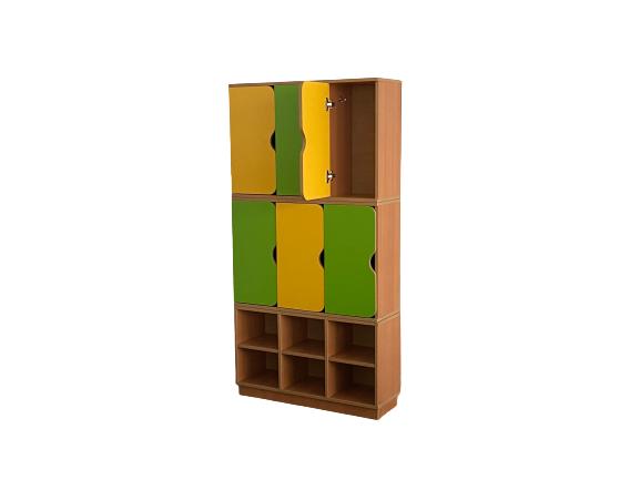 Шкаф 2-хярусный 6-ти секционный с обувницей 856*280*1700 мм_1
