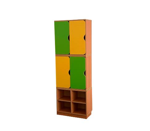 Шкаф 2-хярусный 4-х секционный с обувницей  576*280*1700 мм